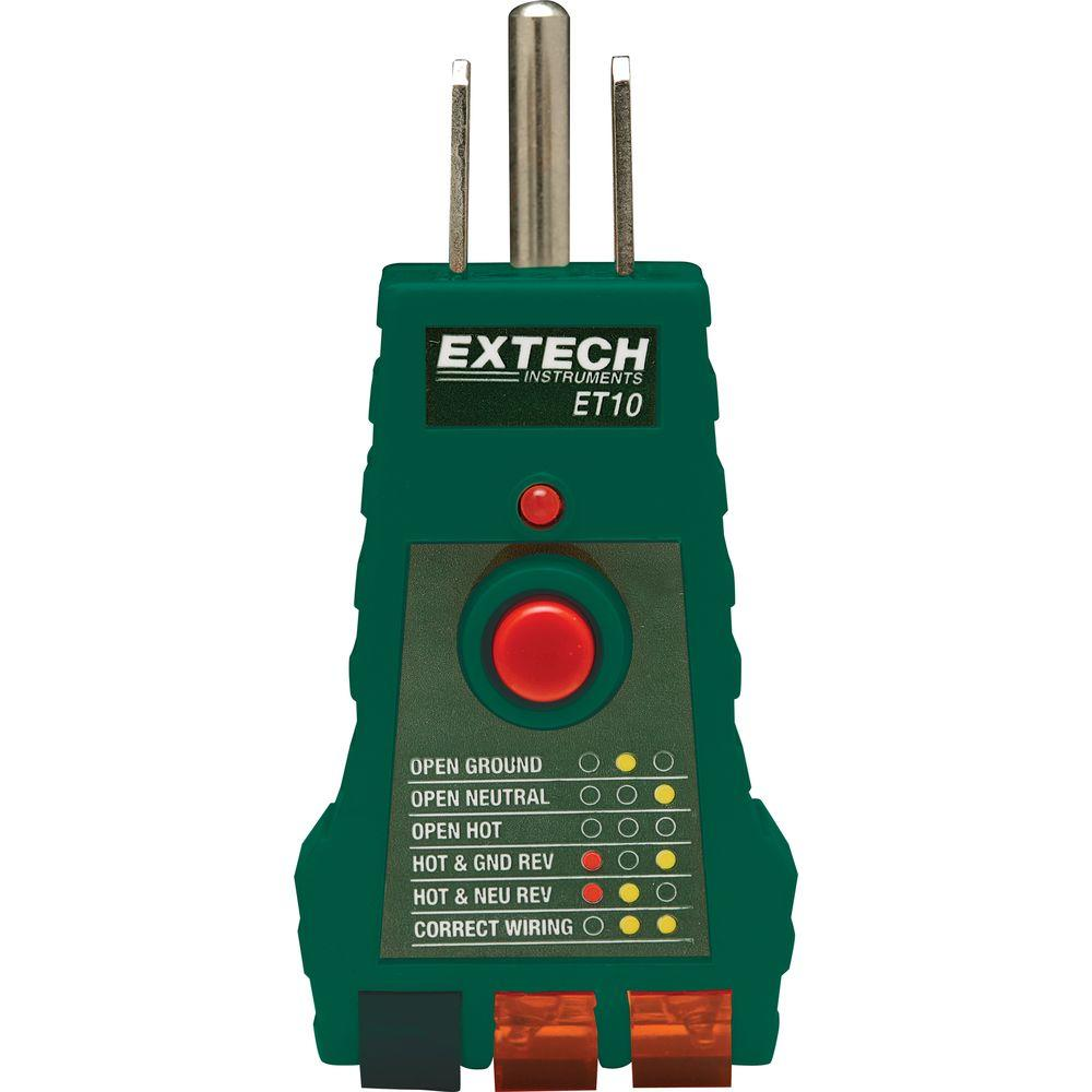 Extech ET10 GFCI Receptacle Tester - image 1 of 1