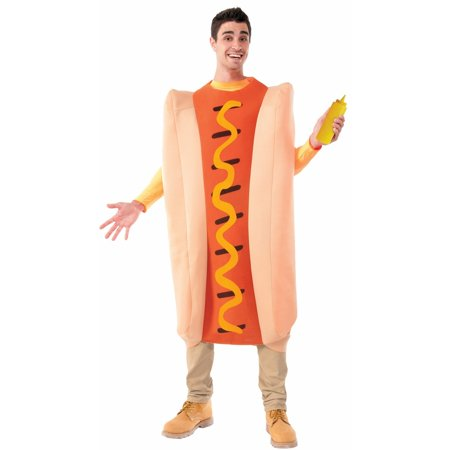 Halloween Hot Dog Adult Costume](Dog Halloween Costume For Men)