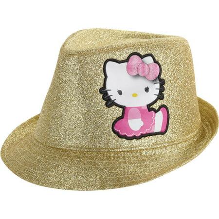 8c77ed13d ONLINE - Hello Kitty Gold Glitter Fedora - Walmart.com