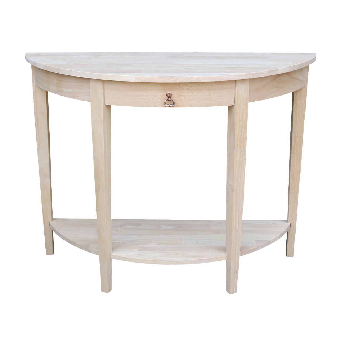 International Concepts Ot 1643Hd Half Moon Console Table, Ready To Finish