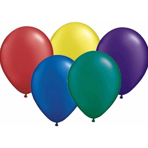 "Qualatex 11"" Pearltone Balloons, Radiant Pearl Assortment, 100-Pack"