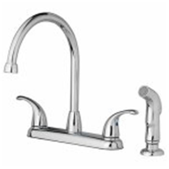 Homewerks Worldwide Import 239963 Home Pointe 2 Lever Kitch Faucet - Chrome - image 1 de 1
