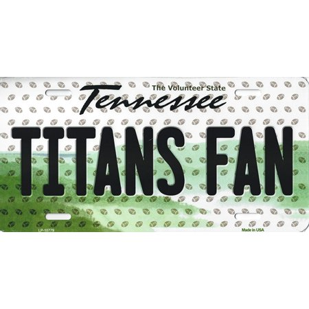 Tennessee Titans Metal (Titans Tennessee State Background Novelty Metal License Plate Tag (Titans Fan))