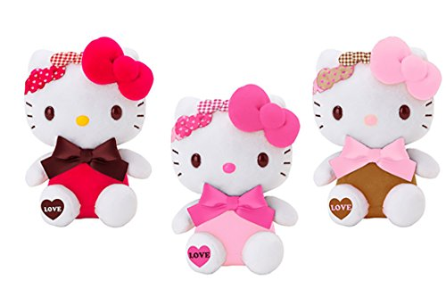 Hello Kitty Triple Bow Love Design Plush Toy Small Mascot Size Special Edition --1 piece... by