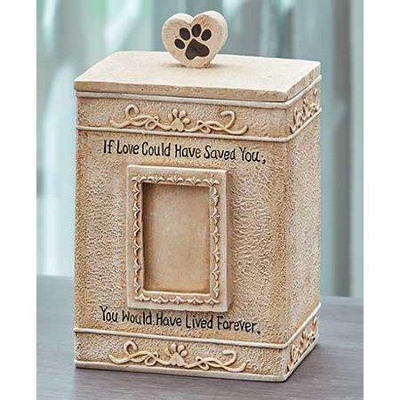 Faithful Angel Pet Memorial Figurines or Urns-Cream Sentimental Urn ()