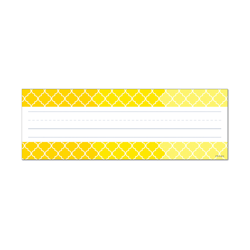 Ombre Yellow Moroccan Name Plates - image 1 de 1