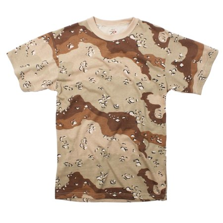 Six-Color Desert Camouflage T-shirt