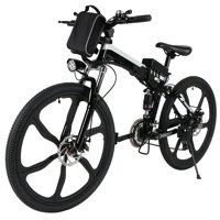 ANCHEER 26''2 Woking Models Foldable Electric Bike With Super Lightweight Magnesium Alloy 6 Spokes Integrated Wheel, Large Capacity Lithium-Ion Battery (36V 250W), Double Layer Aluminum Alloy Wheel
