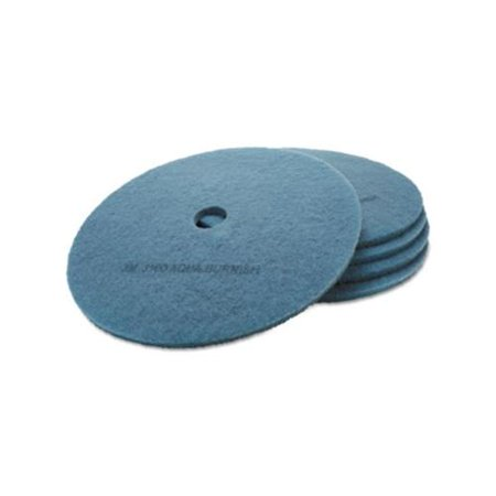 Aqua Burnishing Floor Pads - Ultra High-Speed Floor Burnishing Pads 3100, 27-Inch, Aqua MMM20264