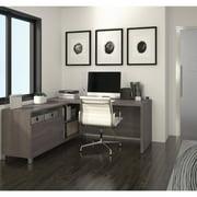Bestar Pro-Linea L-Desk, Bark Grey