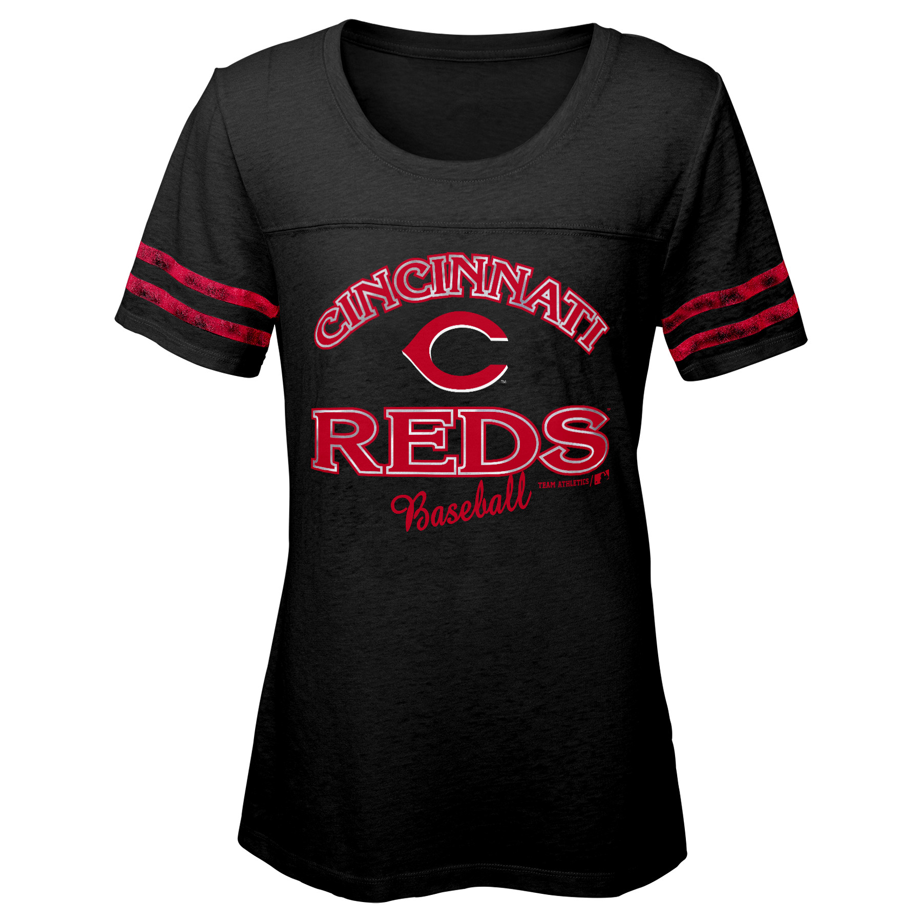 MLB Cincinnati REDS TEE Short Sleeve Girls Fashion 60% Cotton 40% Polyester Alternate Team Colors 7 - 16