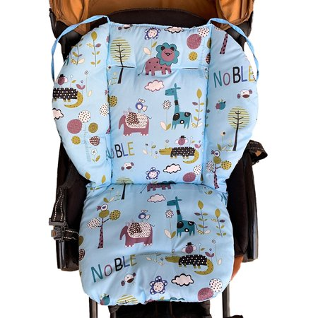 Universal Cartoon Floral Stroller Seat Covers Soft Thick Pram Car Seat Cushion Cover Pad