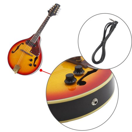 8 Strings Elegant Cambered Wood Acoustic Mandolin Pickle Wipe cloth Connection - image 4 de 7