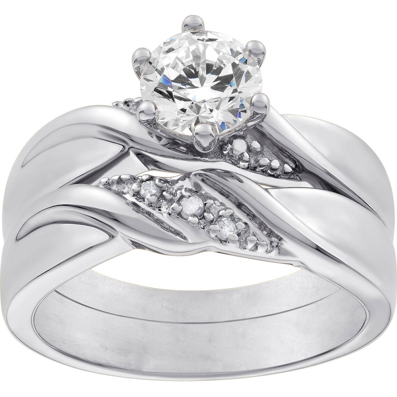 Sterling Silver White Topaz Wedding Set by Generic