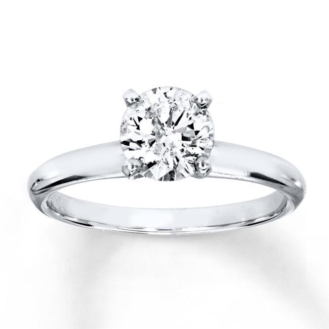 Harry Chad Enterprises HC10467-6 1.50 CT 14K White Gold Round Natural Diamond Gorgues Wedding Ring - image 1 de 1