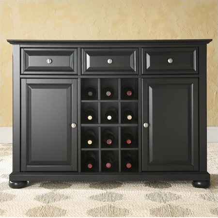 Crosley Furniture Alexandra Buffet Server and Sideboard Cabinet with Wine Storage Large Sideboard Server