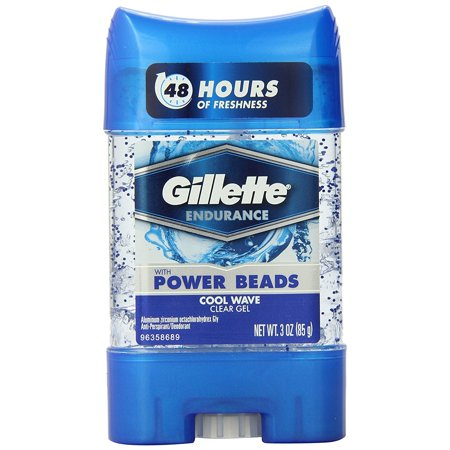 3 Pack - Gillette Power Beads Anti-Perspirant Deodorant Clear Gel Cool Wave 2.85 - Packs Wave