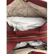 e46351706ed3 Michael Kors Jet Set Large Chain Shoulder Bag Hobo Tote Leather Cherry Red  Stud Image 10