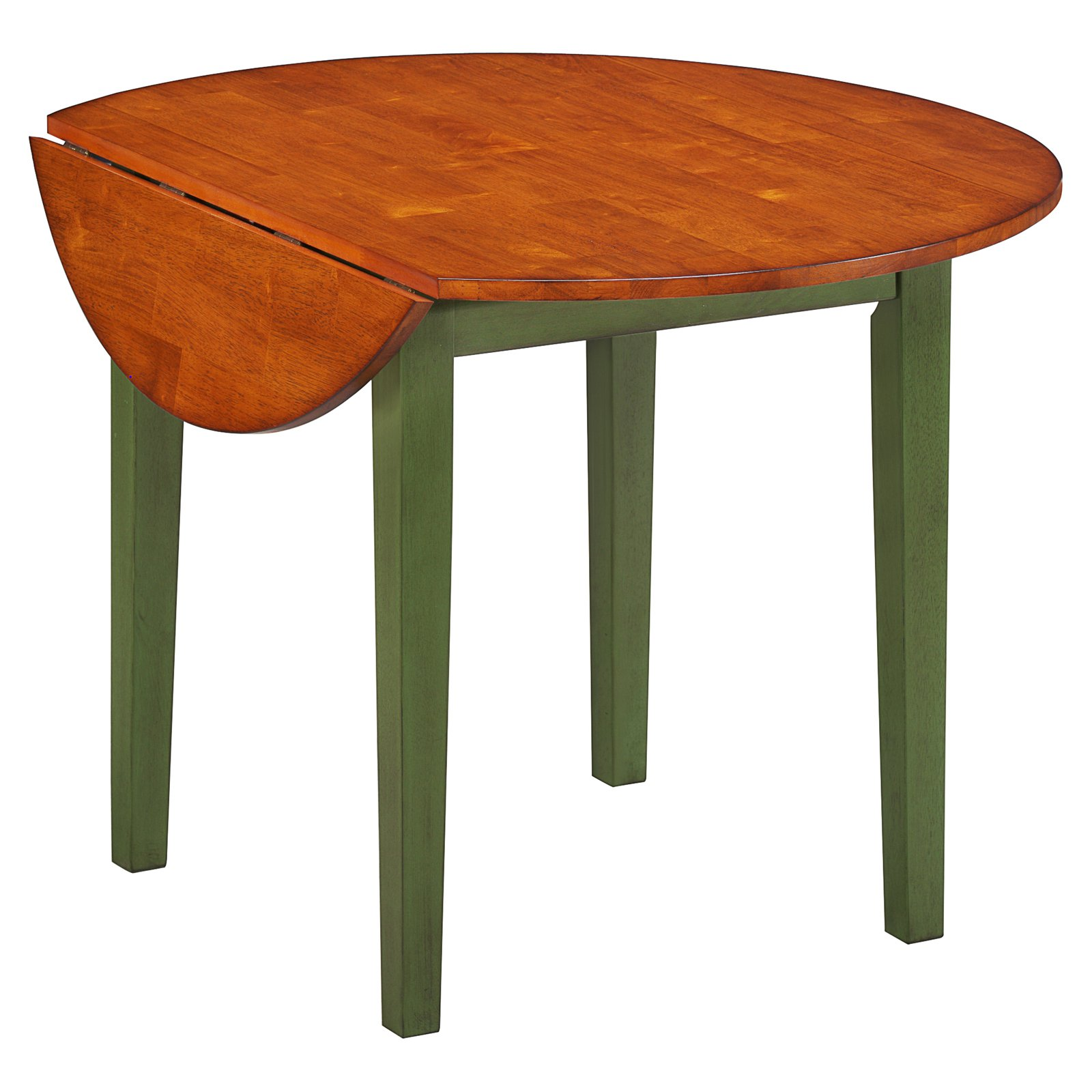 Imagio Home Drop Leaf Arlington Dining Table, Green and Java