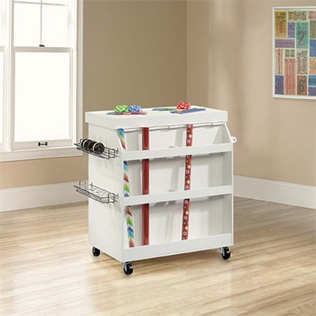 Pemberly Row Craft Cart in Soft White - image 2 de 3