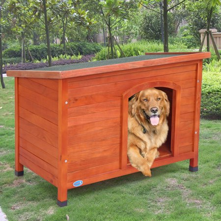 Jaxpety X-Large Wooden Dog House Pet Shelter Cage Doggie Home Weather Resistant Outdoor