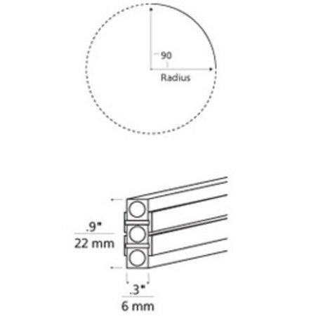 Tech Lighting 700MO2BH9060S Pre-Bent 90° Curve Two Circuit