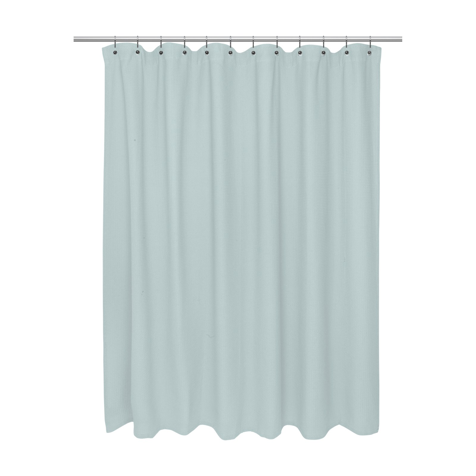 Cotton Waffle Weave Shower Curtain Spa
