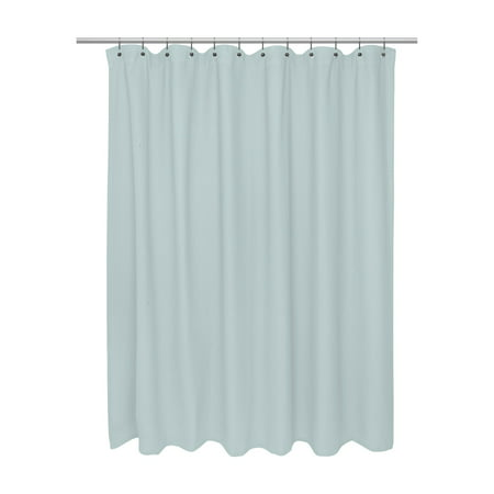 Extra Long Size 100% Cotton Waffle Weave Shower Curtain, spa blue.