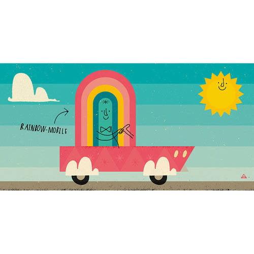 Oopsy Daisy - Rainbow Mobile Canvas Wall Art 24x12, Eric Comstock