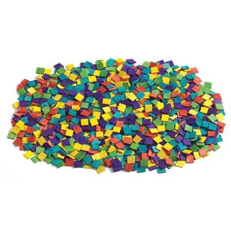 Colorations Wood Mosaic Squares - 1,000 Pieces (Item # WMSC)