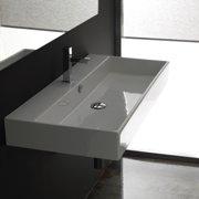 WS Bath Collections Ceramica II Unlimited Ceramic Ceramic Rectangular Vessel Bathroom Sink with Overflow