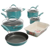 Deals on The Pioneer Frontier Speckle 10-Pc Cookware Set