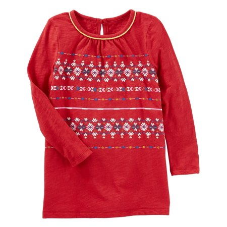 OshKosh B'gosh Little Girls' Mix-Kit Fair Isle Tunic, Red](Fairisle Tunic)