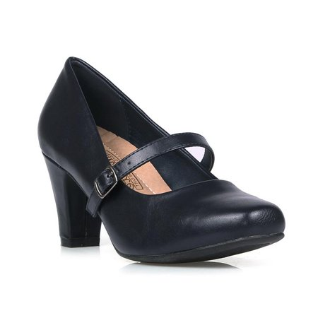 Comfeite Women's Mary Jane High Heel Pumps ()