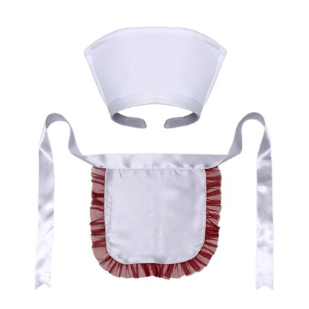 D.i.y Pour Halloween (SeasonsTrading Nurse Hat Headband & Apron Costume Set)