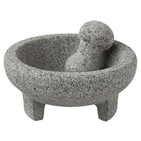 Vasconia Four Cup Granite Mortar And Pestle Molcajete
