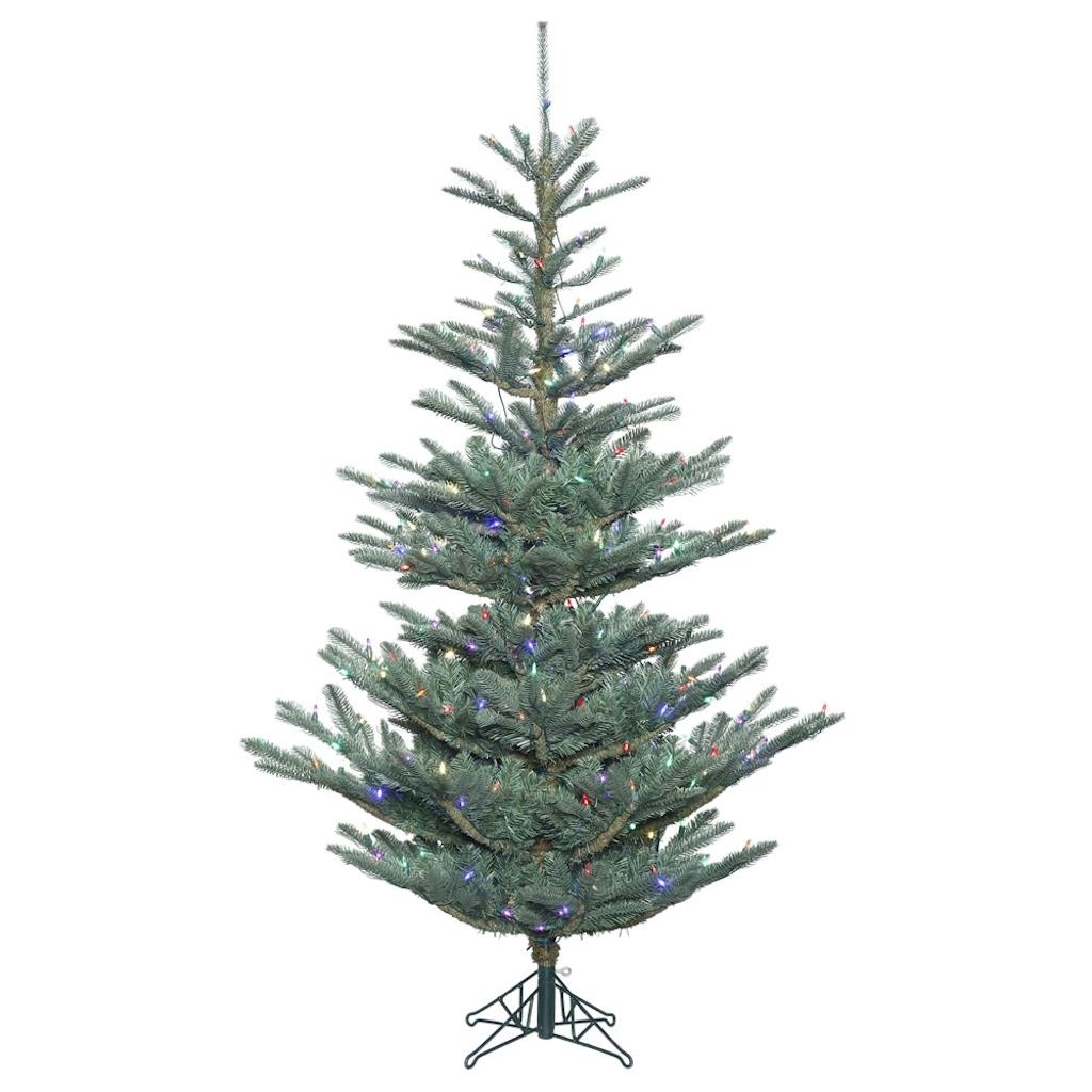 "Vickerman 410318 - 12' x 80"" Alberta Blue Spruce Tree with 1,300 Multi Color LED Lights Christmas Tree (G160492LED)"