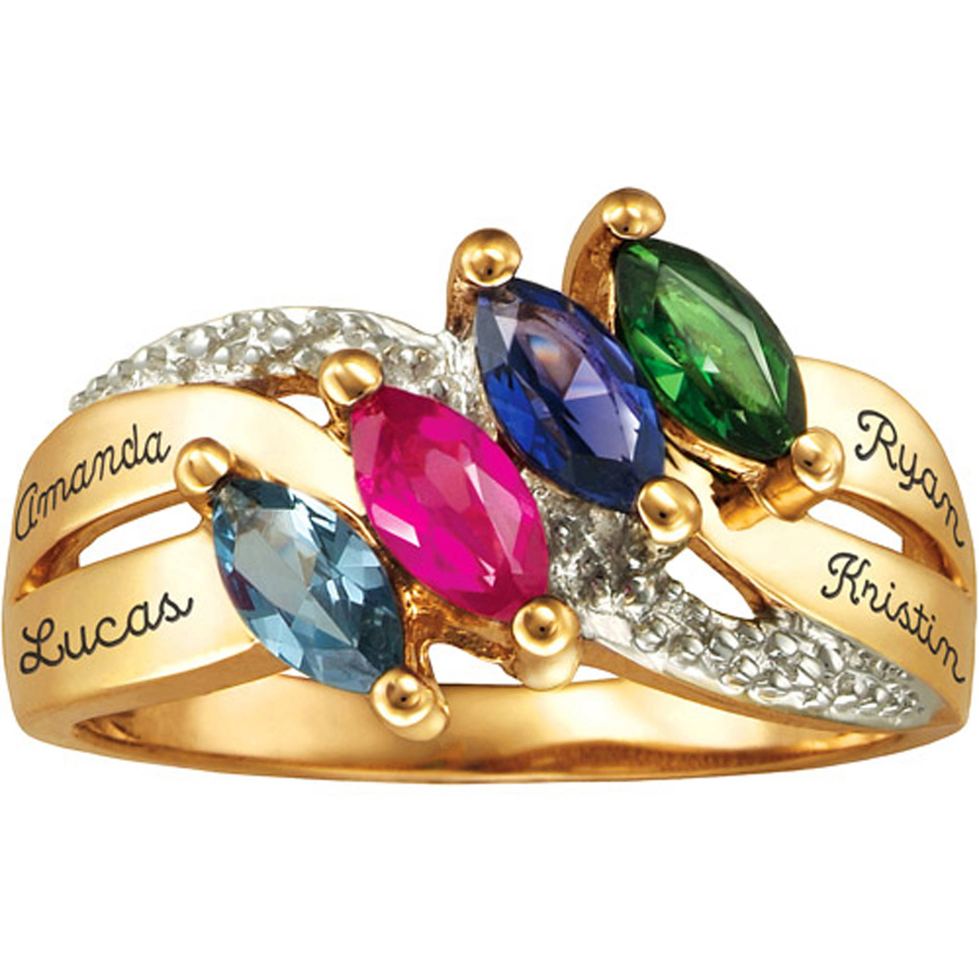 Personalized Keepsake Lustre Mother's Birthstone Ring