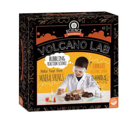 Science Academy: Volcano Lab, TOYS THAT TEACH: This kit from MindWare makes it easy and fun to learn about the chemical reactions that cause bubbling eruptions. By MindWare (Mindware Toys)