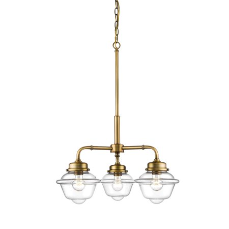 Millennium Lighting 3453-HBZ Neo-Industrial Chandelier In Heirloom Bronze