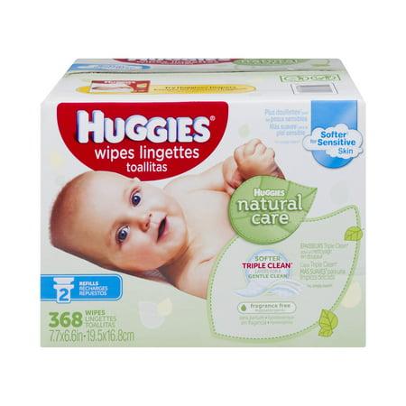 Huggies Wipes Natural Care - 368 CT - Walmart.com