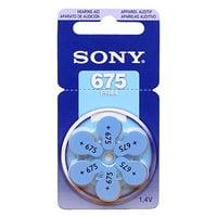 SONY Hearing Aid Batteries Size 675, 1.45 Volt (18 Pcs)