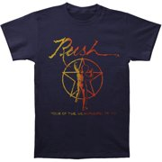 Rush Men's  Tour Of Hemispheres Navy Slim Fit T-shirt Navy