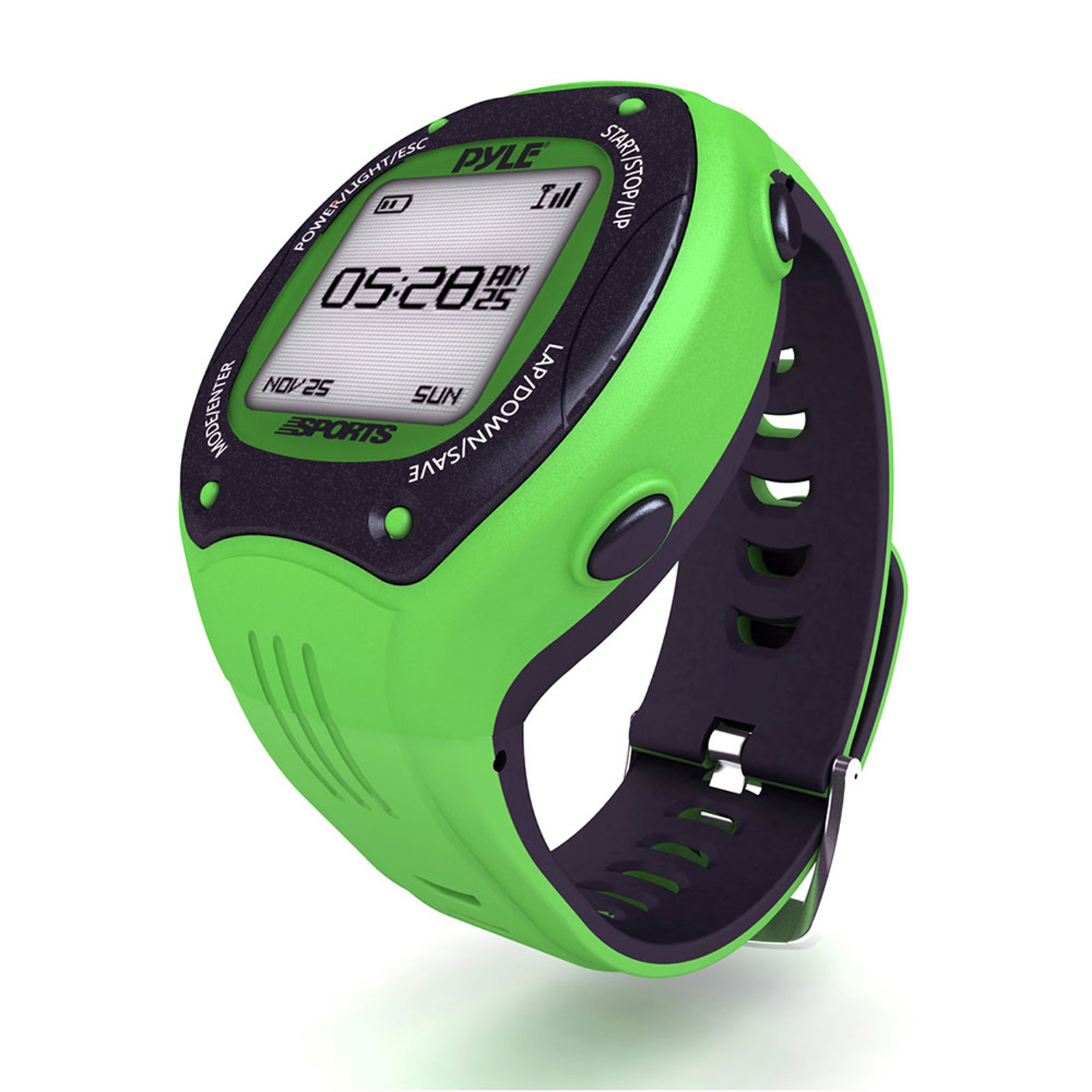 Pyle Multi-Function LED Sports Training Watch with GPS Navigation (Green Color)