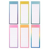 12-Pack Magnetic Notepad Grocery List, To Do List Shopping Note Pad Notepads Reminders for Fridge Refrigerator Magnet Memo Pad Stationery, 6 Watercolor Designs, 60 Sheets Per Pad, 3.5 x 9 Inches