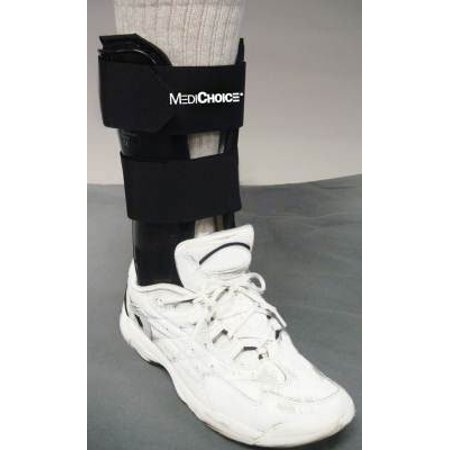 Stirrup Ankle Brace, Standard w/ Terry-Covered Foam Liner, R or L Ankle, 10.5 Inch, 1314BRC4001 (Each of 1), Designed to help support and protect.., By MediChoice Ship from US
