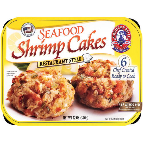 Southern Belle Seafood Shrimp Cakes, 6 count, 12 oz