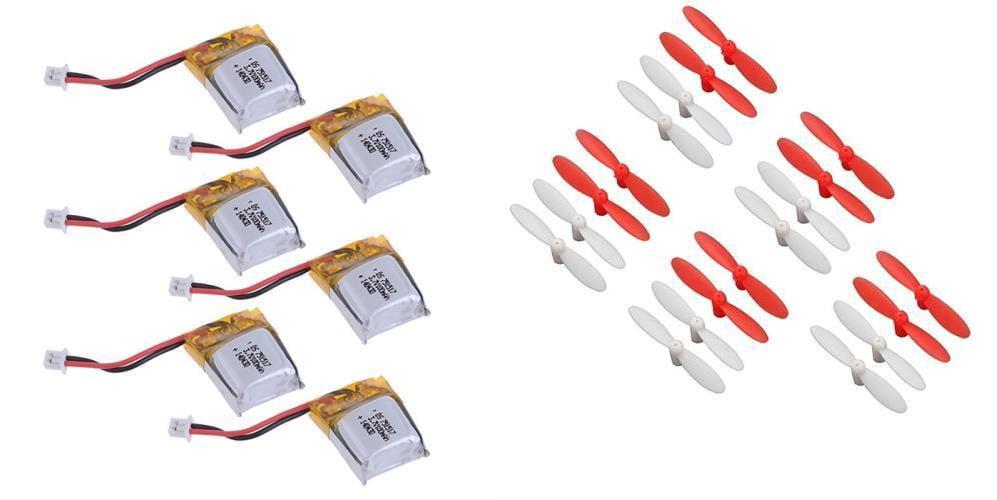 Estes Proto-X [QTY: 6] Li-Po Battery Power Pack 3.7v 100mAh [QTY: 5] Propellers Blades... by