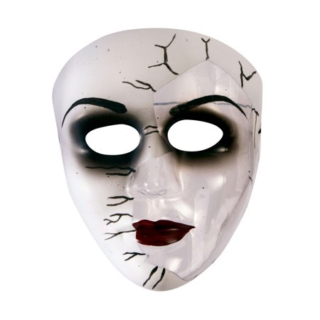 Broken Doll Face Transparent Mask Halloween Costume Accessory](Broken Doll Halloween Mask)