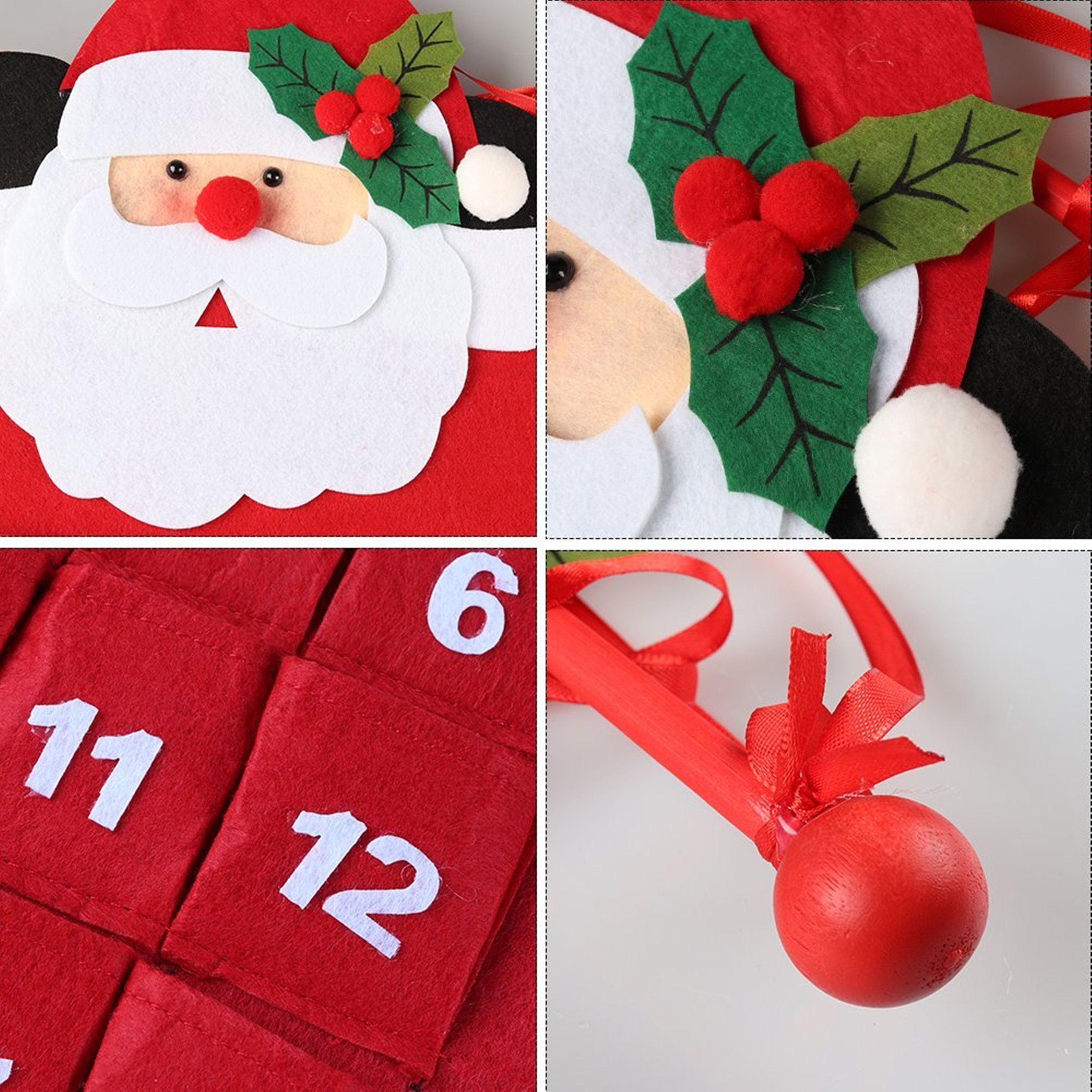 Countdown to Christmas Calendar Indoor Christmas Decorations 3D